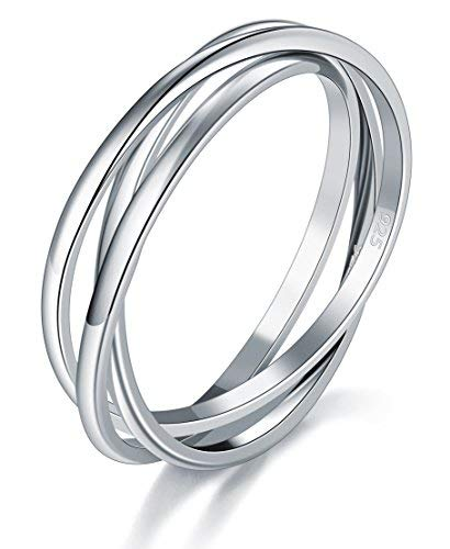 Dew Womens Sterling Silver Russian Wedding Ring