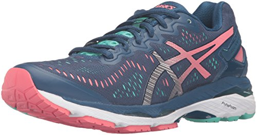 ASICS Women's Gel-Kayano 23 Running Shoe, Poseidon/Silver/Cockatoo, 8.5 M US -
