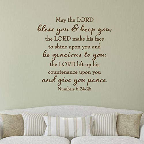 Amazon Wall Quote Decal May The Lord Give You Peace Religious
