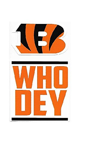 Bengal Blanket - NFL Cincinnati Bengals Double Up Die Cut 2-Piece Sticker Sheet