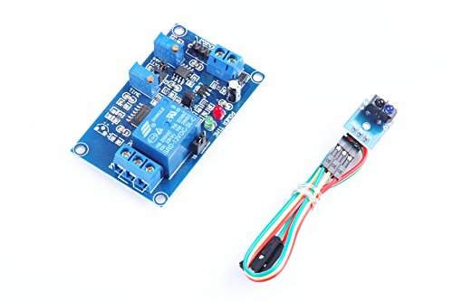 Photoelectric Accessory (KNACRO SRD-12VDC-SL-C DC5V TCRT5000 Infrared photoelectric Sensor Relay Module Optical delay Module Matt Version Non-Reflective Trigger Adjustable delay)