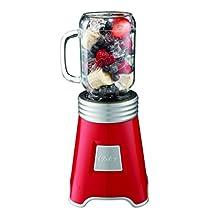 Oster Blend N Go Mason Jar Blender, with (2) 20 oz. BPA-free Plastic Jars, Red