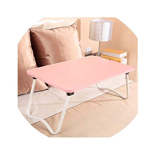 W Painted Legs Laptop Table Bed Desk Lazy Table Simple Folding Student Table Multicolor,W Square ()