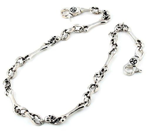 DoubleK Skull & Bone Biker Key Jean Wallet Chain (28