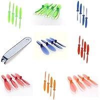 Hubsan X4 H107D [QTY: 1] Transparent Clear Blue Propeller Blades Props Rotor Set 55mm Factory Units [QTY: 1] Green [QTY: 1] Red [QTY: 1] Orange [QTY: 1] Propellers Prop Blade Blues [QTY: 1] Greens [QT