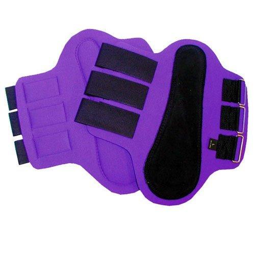 Intrepid International Splint Boots with Black Patches, Medium, Purple