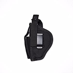 "Gun Holster Hip fits RUGER SECURITY-9 9MM LUGER 4"" BARREL Smith & Wesson SW9VE 5900 Glock 19 23 30 Sima 9mm Taurus 24/7 Kahr CW 40 Springfield XD9 45 357 Issc M22 Fits most 4-41/2 inch Autos #H5"