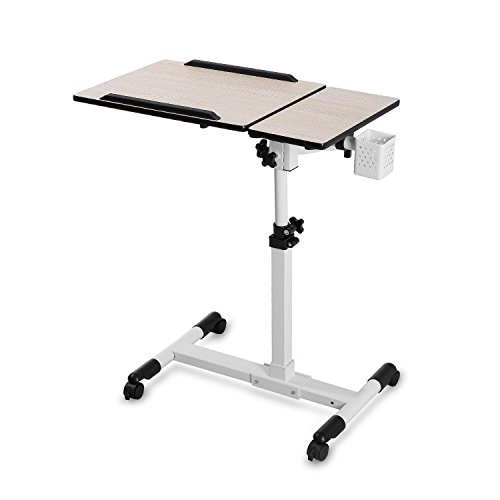 BUREI Laptop Carts Mobile Standing Desk Adjustable Table for