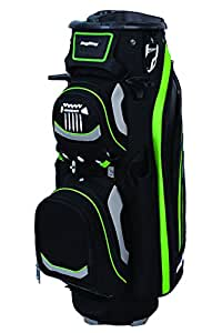Bag Boy Revolver LTD Cart Bag, Black/Silver/Lime