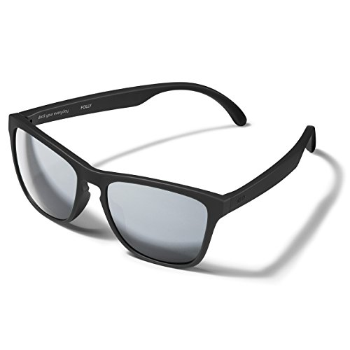Distil Union MAGNETIC Stay-Put Wayfarer Sunglasses with Comfort Flex | Polarized Mirrored Lens for Men Women (Anchor Black)