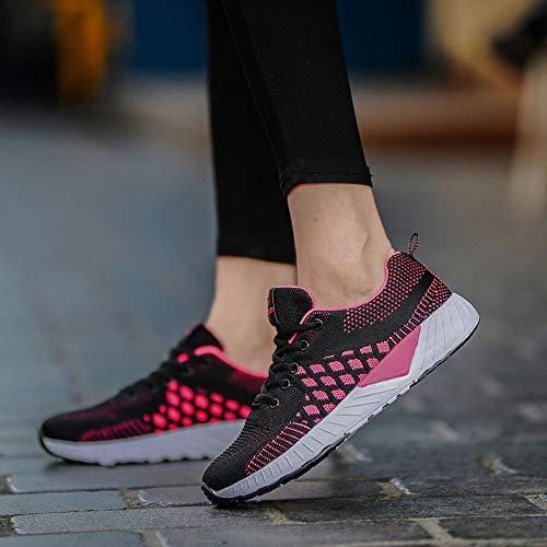 Chaussures aller Lgres D'entranement Fitness Gym Course Jogging Respirantes De Pour Rose Maille Baskets Femmes Sneaker Vif Marche Tout Sport 4rH4Fzqw1