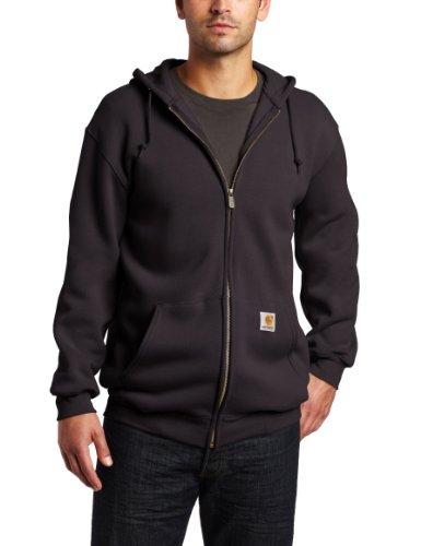 UPC 035481349829, Carhartt Men's Big & Tall Heavyweight Sweatshirt Hooded Zip Front Original Fit,Black (Closeout),X-Large Tall