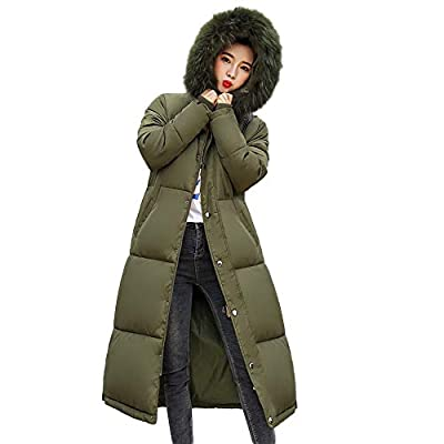 Down Coats Winter Women's Long Down Cotton Ladies Parka Hooded Coat Quilted Jacket Outwear Warm Tops ANJUNIE