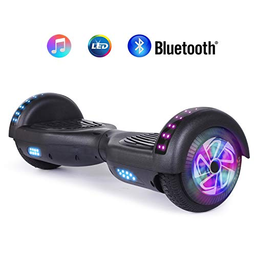 "jolege Hoverboard Smart Scooter Two-Wheel Self Balancing Electric Scooter 6.5""Hover Board UL2272 Certified Battery Protection with 300W Dual Motors-Black"