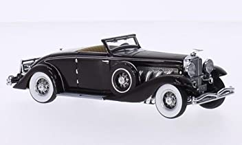 Duesenberg SJN Convertible Coupe, dark red, 1936, Model Car, Ready-made