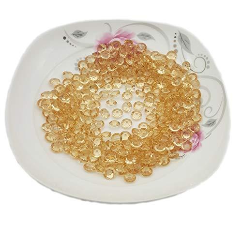 AiFanS Acrylic Diamonds Gems(Gold,10mm,1000 Piece)