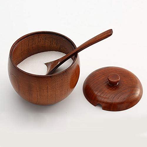 dise/ño japon/és Tarro de madera para especias color marr/ón Kitchen Vintage