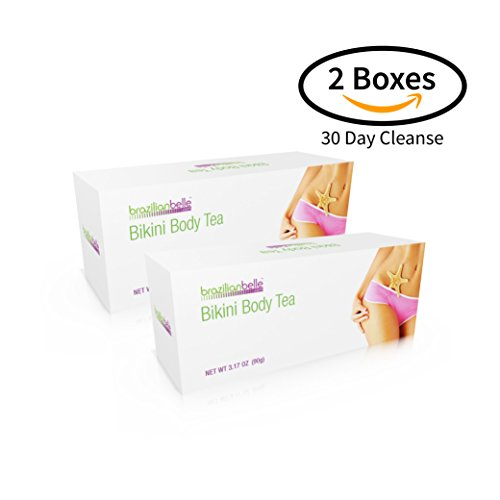 Bikini Body Detox Tea for Weight Loss - Best Slimming Tea on Amazon - Boosts Metabolism, Shrinks Love Handles and Improves Complexion (30 Day Cleanse)