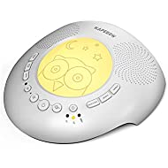 White Noise Machine - Portable Noise Sound Machine Baby, Kids Sleep Therapy with Night Light , 6 Soothing Sounds and 3 Timers for Sleeping, Relaxation, Home, Office, Travel, Insomnia and Anxiety