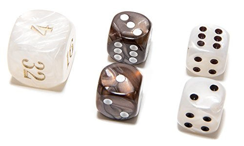 Backgammon Dice (Bello Games Deluxe Marbleized Dice Sets 5/8