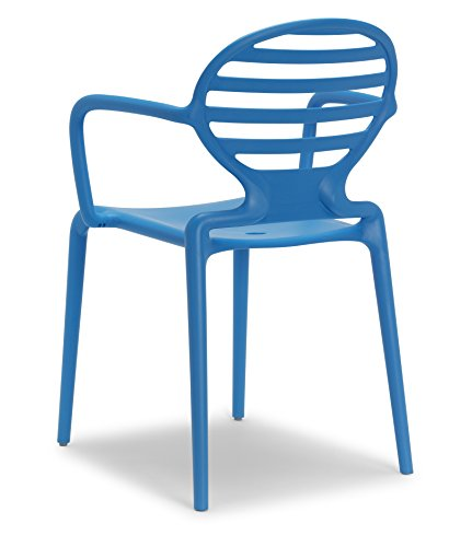 Parada One Design 2280 61 Cokka Modern Indoor/Outdoor Stackable Dining Chair, Cornflower Blue Review