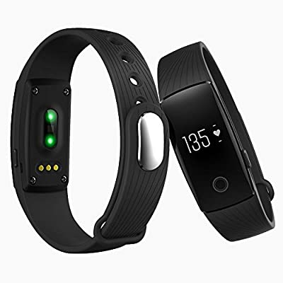 Wonlex Waterproof Heart Rate Monitoring Smart Bracelet Wireless Activity Sleep Pedometer Tracker for iOS and Android