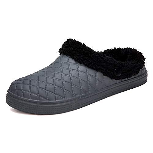 Casa Pantofole Grigio Per Wowei Indoor Invernali Slipper Confortevole Zoccoli Donna Walking Outdoor Scarpe Caldo Da 1 Uomo dXfwZ7Hqf
