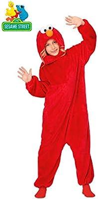 Barrio Sésamo Disfraz Pijama de Elmo para niños: Amazon.es ...