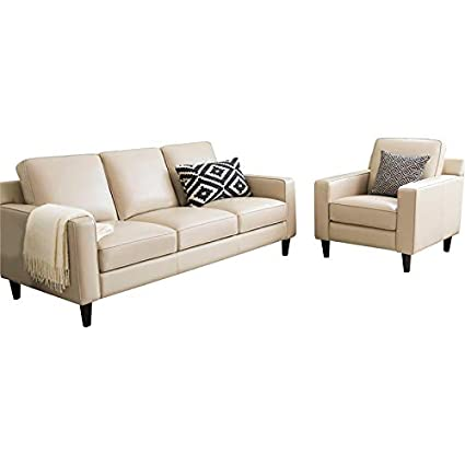 Amazon.com: Abbyson Living RX-6637-CRM-3/1 Whittier Sofa and ...