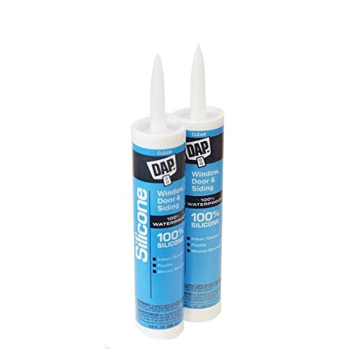 Clear Waterproof Silicone Sealant - 9.8-Ounce Cartridge - Pack of 2