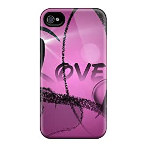 Durable I Love You In Purple Back Cases/covers For Iphone 6