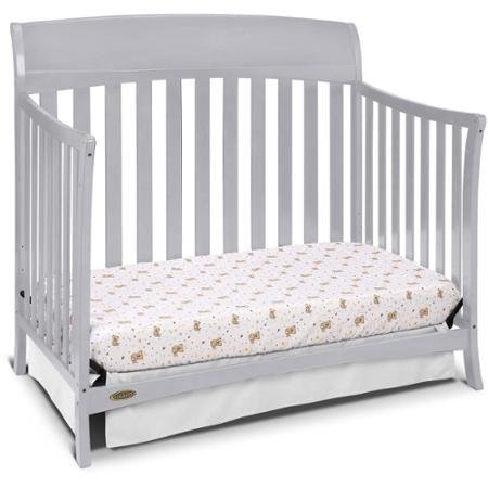 Best Seller Convertible Furniture Cribs for Baby, Graco Lennon 4-in-1 Convertible Crib, Pebble Gray by Graco (Image #1)