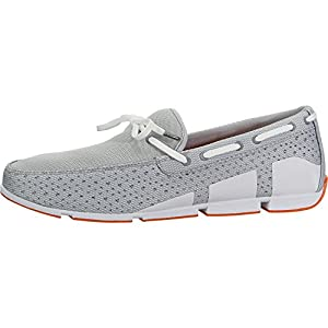SWIMS Breeze Lace in Gray/White/Orange, Size 8