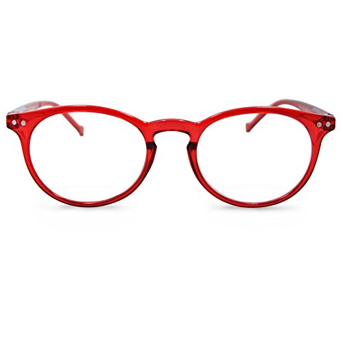 In Style Eyes Flexible Readers, Super Comfortable Lightweight Reading Glasses Shiny Red +3.00