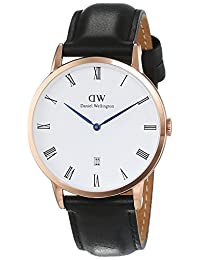 Daniel Wellington Men's Dapper Sheffield 1101DW Rose Gold Leather Quartz Watch