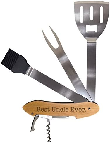 Birthday Gift for Uncle Best Uncle Ever BBQ Grill Multi Tool Barbecue Spatula Grilling Accessories