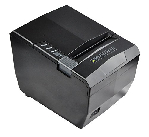 rnet/LAN, USB & Serial 3-IN-1 80mm Thermal Receipt Printer High Speed Auto Cutter ()