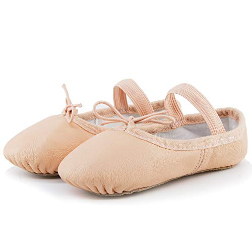 Flat Ballerina Card (Ballet Shoes for Toddler Girls Dance Full Sole Leather Ballet Slippers (13M US Little Kid, Ballet Pink))