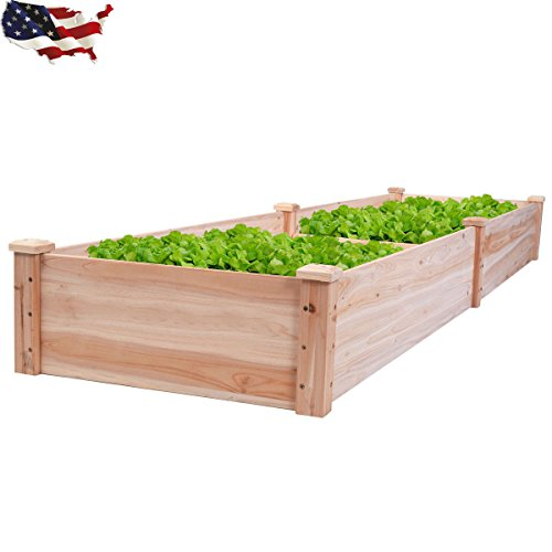 Wooden Vegetable Raised Garden Planter Bed Patio Backyard Grow Flowers Plants ..(from#_villagehead_65282115371604 by Jonyandwater