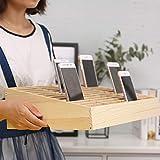 Ozzptuu 36-Grid Wooden Cell Phone Holder Desktop