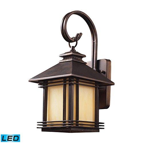 Alumbrada Collection Blackwell 1 Light Outdoor LED Sconce In Hazelnut Bronze