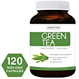 Best Green Tea 98% Extract (NON-GMO) 120 Capsules with High Potency EGCG for Weight Loss & Metabolism Boost – Natural Diet Pills – Powerful Polyphenol Catechins – Leaf – Antioxidant Supplement For Sale