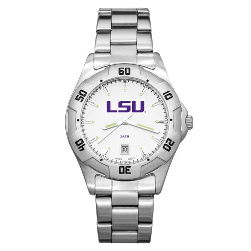 NCAA LSU Tigers Men's All-Pro Chrome Watch by LogoArt