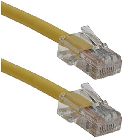 QVS CC712EX-14YW 14 ft 350MHz CAT5e Crossover Yellow Patch Cord