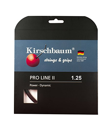 Kirschbaum Set Pro Line II Tennis String, 1.25mm/17-Gauge, Black