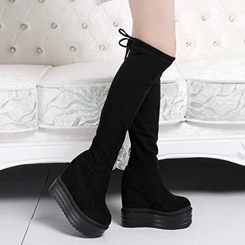 High Heels 15 Zentimeter dick mit Knie - Stiefel und Nachts Stiefel.