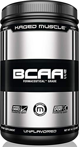 KAGED MUSCLE, Fermented BCAA Powder, Plant Based, Non-GMO, Supports Protein Synthesis, Vegan Friendly Branched Chain Amino Acids, Aminos, BCAAs, Unflavored, 72 Servings