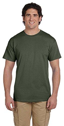 Fruit of the Loom 5 oz., 100% Heavy Cotton HD T-Shirt, XL, MILITARY GREEN