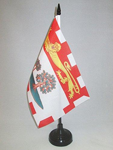 - AZ FLAG Prince Edward Island Table Flag 5'' x 8'' - Canada - Canadian Region of Prince Edward Island Desk Flag 21 x 14 cm - Black Plastic Stick and Base