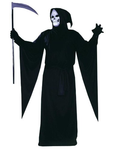 Grim Reaper Plus Size Adult Costume - Standard - Grim Reaper Plus Size Adult Mens Costumes